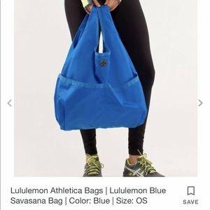 Lululemon Blue Savasana Bag Yoga Gym Tote One Size